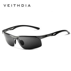Image 1 - VEITHDIA 선글라스 알루미늄 마그네슘 무테 UV400 남성 선글라스 편광 된 태양 안경 안경 Accessorie 남성 남성 6591