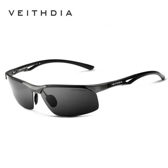Мужские солнцезащитные очки VEITHDIA, алюминиевые, магниевые, без оправы, UV400, поляризационные, аксессуар для очков, 6591