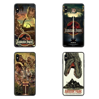 Jurassic Park Dinosaur World For Galaxy S5 S6 S7 S8 S9 S10 S10e S20 edge Lite Plus Ultra Factory Black Soft TPU Cell Phone Cases image