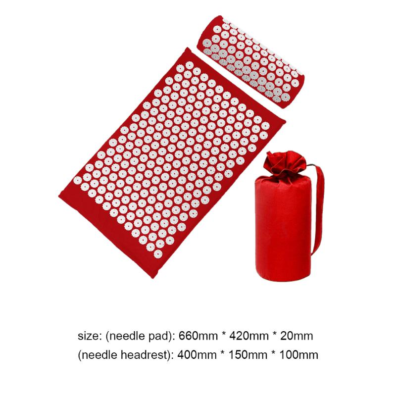 Acupressure Massage Mat with Pillow set to body Relaxation to Release Stress and Tension 38