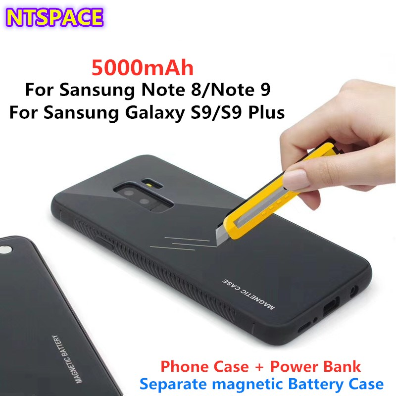 Wireless Magnetic Battery Charging Case For Samsung Galaxy S9/S9 Plus Battery Charging Case For Samsung Note 8/Note 9 Power Bank|Battery Charger Cases|   - title=