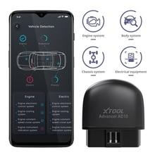 XTOOL AD10 OBD2 אבחון סורק Bluetooth ELM327 מהנדס קוד לקרוא לעבוד עם iOS/אנדרואיד ו HUD ראש Up Display
