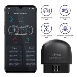 Image 1 - XTOOL AD10 OBD2 אבחון סורק Bluetooth ELM327 מהנדס קוד לקרוא לעבוד עם iOS/אנדרואיד ו HUD ראש Up Display