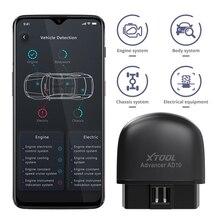 Xtool ad10 obd2 scanner de diagnóstico bluetooth código engenheiro elm327 ler trabalho com ios/android e hud head up display