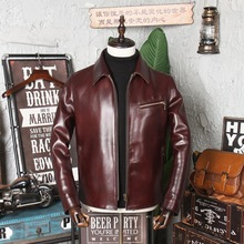 Coat Jacket Cowhide Vintage Clothing.wholesales Thick 1930 Free Quality Shipping.new-Arrival