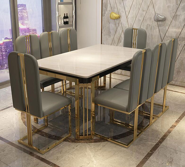 Luxury Marble Dining Table Rectangular Table Living Room Home Furniture стол обеденный Length 120cm 140cm 160cm Dining Tables Aliexpress