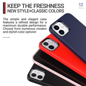 Image 4 - Hoco רך סיליקון מגן מקרה עבור iPhone 12 mini Pro 11 11Pro Max מקסימום כיסוי הגנת מעטפת סיליקון טלפון מגן צבעוני