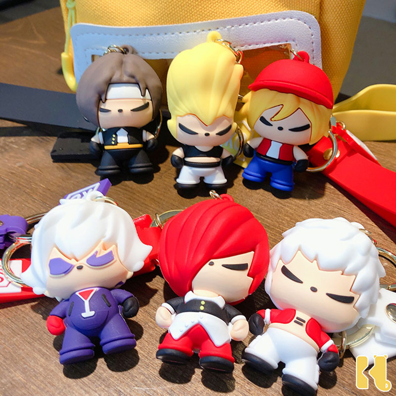 Japan KOF The King Of Fighters Toys Keychains Kyo Iori Figure Key Chain For Men Women Car Bags Pendant Accessories Key Ring Gift