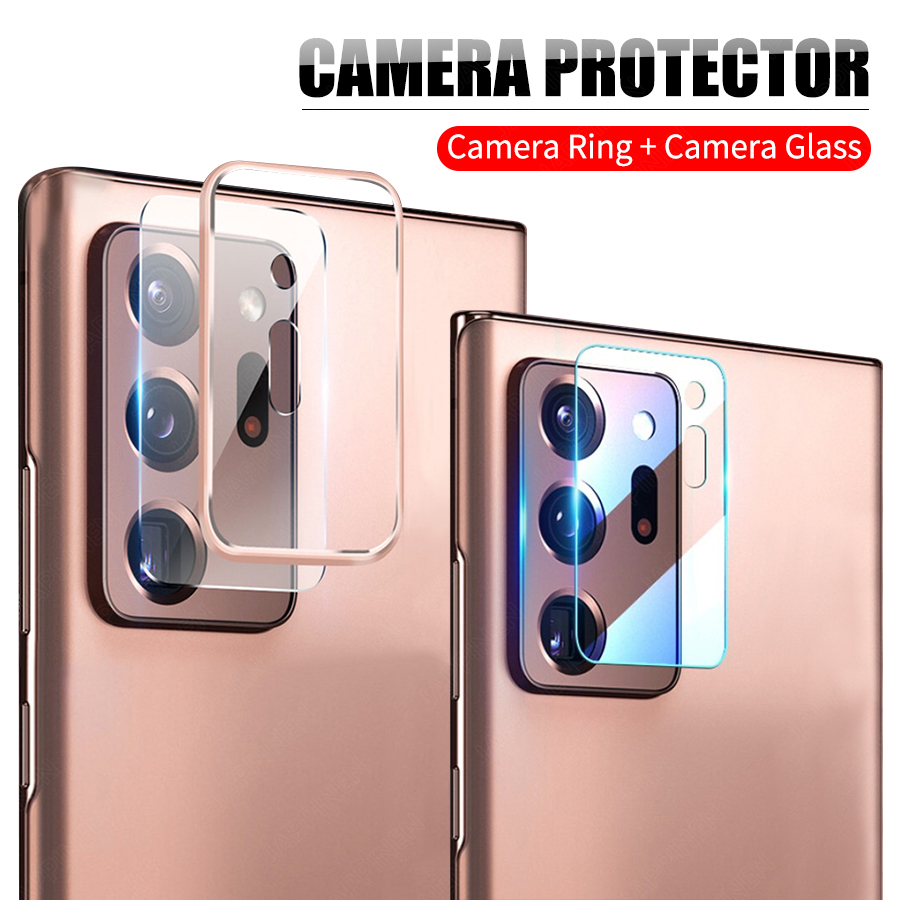 Camera Lens Tempered Glass + Case For Samsung Galaxy Note 20 S20 Plus S20 Ultra Back Metal Ring Camera Lens Glass Protector Fitted Cases  - AliExpress