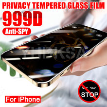 999D Private Screen Protector For iPhone 12 11 Pro XS Max X XR Anti-spy Tempered Glass iPhone 8 7 6 6S Plus 5S SE Privacy Glass