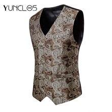 Yunclos мужские жилеты костюм жилет fo деловые вечерние свадебные