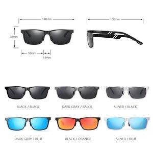 Image 5 - YSO Aluminium Meg Sunglasses Men Luxury Brand Polarized UV400 Protection Glasses For Driving Blue Lens Sunglasses For Men 6560