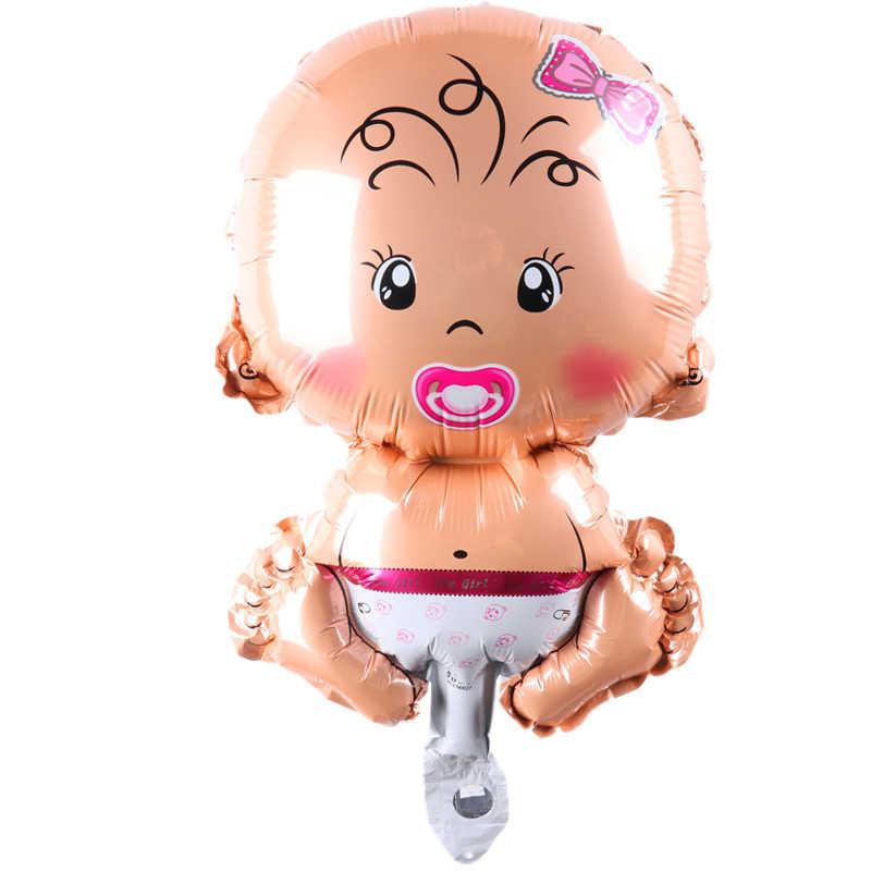 Мини-мальчик, девочка, воздушные шарики в виде животных Детские алюминиевые гелиевые шары на день рождения декоративный шар для вечеринки Классические игрушки