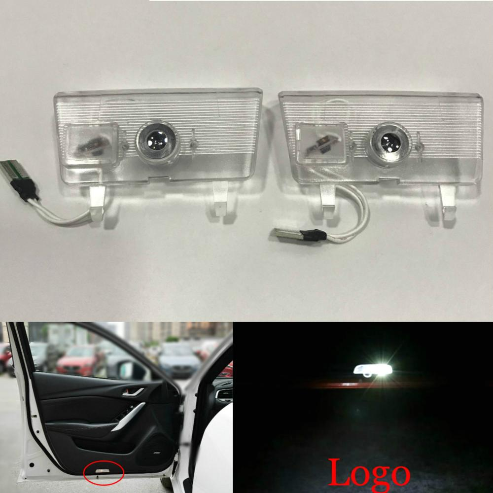 JURUS 2X LED Car Door Welcome Light Emblem For Mazda 6 Atenza 2014 2016 Laser Door Projector Logo Ghost Shadow Light Car styling in Decorative Lamp from Automobiles Motorcycles