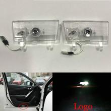 JURUS 2X LED Car Door Welcome Light Emblem For Mazda 6 Atenza 2014-2016 Laser Door Projector Logo Ghost Shadow Light Car-styling 2x rear under mirror door welcome led ghost shadow projector light for ford kuga focus led logo light car styling lighting