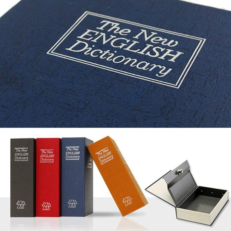 7.2 * 4.6 *2.2 Inch Storage Safe Box Dictionary Book Bank Locker Security Hidden Secret Key Jewellery With Lock Cash M W8K1