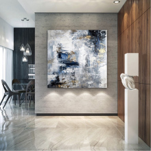 Large Abstract Handmade Canvas Painting Modern abstract oil painting hand wall art original textured
