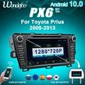Auto radio 2 DIN Android 10 PX6 Für Toyota Prius 2009 2010-2013 2DIN auto stereo auto audio-navigation multimedia system bildschirm