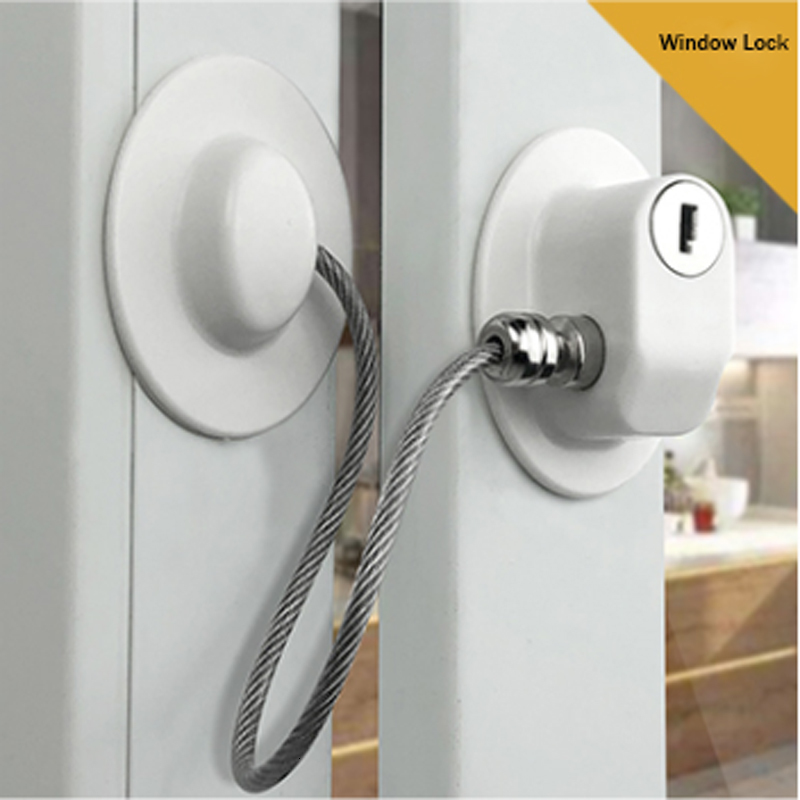 1 Pc Child Protection Refrigerator Lock Window Stop Baby Safety Child Lock Infant Security Window Stopper Without Punching Safe