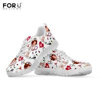 FORUDESIGNS Fashion Woman Spring Autumn Sneakers Nurse Medical Doctor Pattern Lady Flats Shoes Casual Breath Zapatos De Mujer