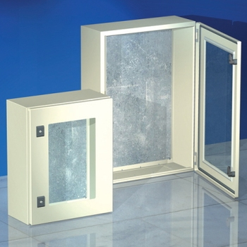 DKC curtain cabinet CE, with clear door, 1000x600x300mm, IP55 r5cex1063