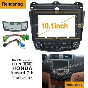 Автомагнитола 2Din с DVD-рамой, Адаптер для установки аудиосистемы, панель с обшивкой, 10,1 дюйма, для Honda Accord 7th 2003-2007, двухсторонний радиопроигрыв...