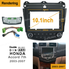 2Din Auto DVD Rahmen Audio Fitting Adapter Dash Trim Facia Panel 10,1 zoll Für Honda Accord 7th 2003-2007 doppel Din Radio Player