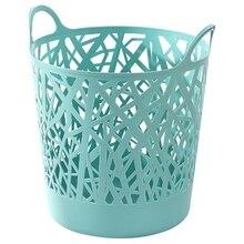 Storage-Bucket Bedroom Folding Plastic Imitation-Rattan Household