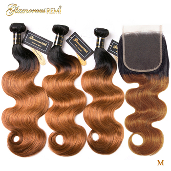 Brazilian Human Hair Weave Bundles With Closure Body Wave Bundles With Closure 1B/27 Remy Human Hair Extensions Middle Ratio aircabin hair body wave bundles with closure remy human hair extensions brazilian body weave bundles and lace closure