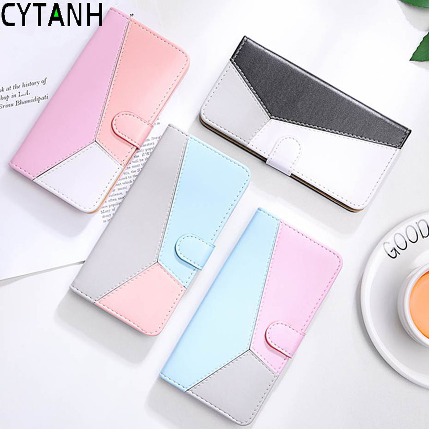 Candy Color Phone Case For Samsung Galaxy A10 A20 E A30 S S9 Plus J6 Plus S8 S7 M10 A80 A90 Note 10 Pro 5G A70 A50 Wallet Cover image