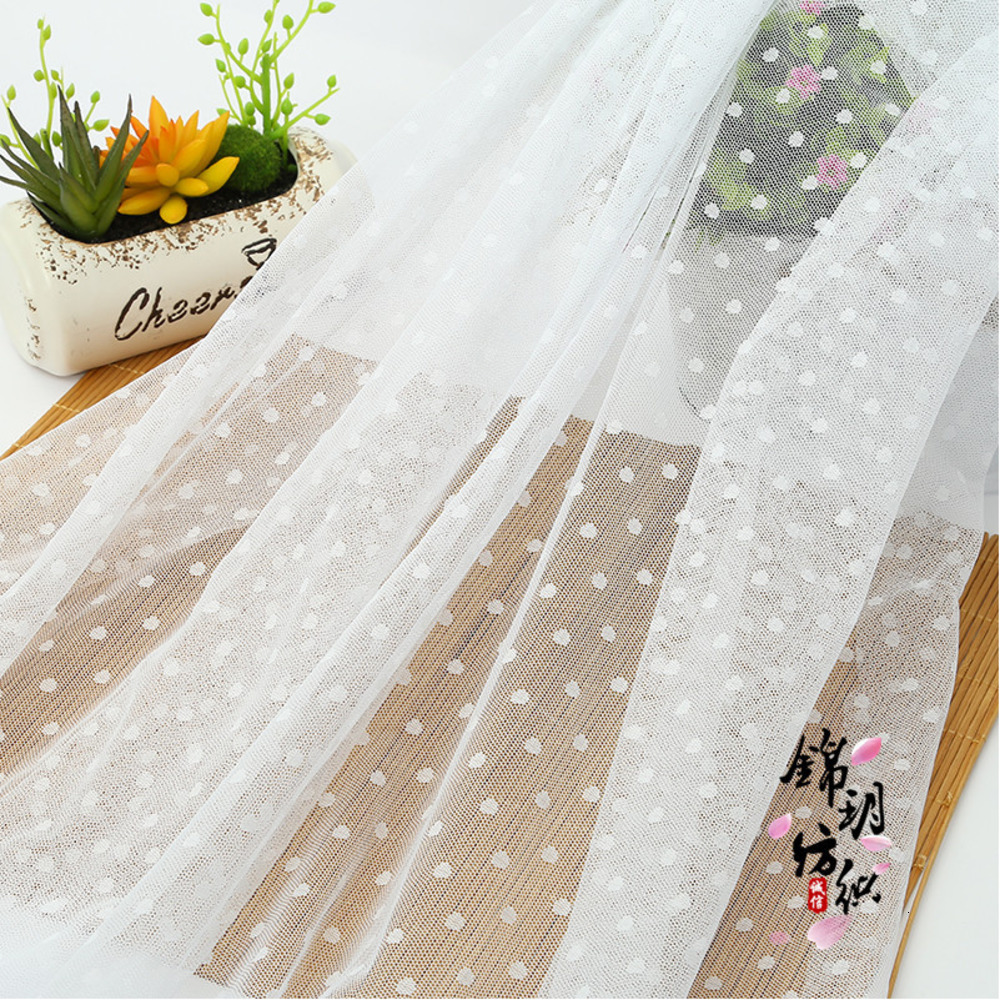 Lace Mesh Polka Dot Gauze Jacquard Fabric Tulle Fabric Netting Lace For Dress And Mosquito Net Patchwork Needlework DIY Material