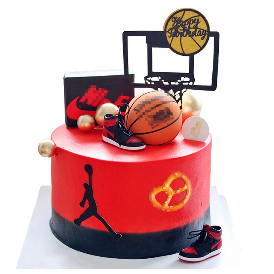 Superb Mini Basketball Hoop Shoe Cake Topper For Kids Birthday Cake Funny Birthday Cards Online Aeocydamsfinfo