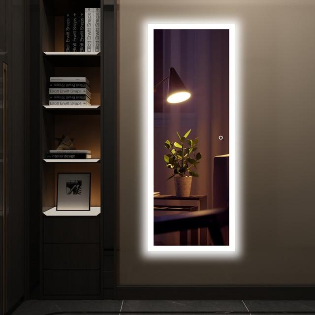 Dropshiping LED Smart dressing mirror bathroom mirror High Lumen Adjustable White Light Waterproof light Vertical Horizontal