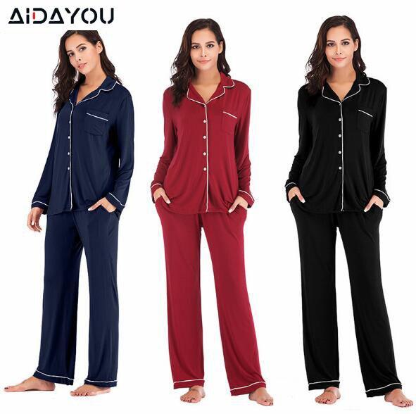 Women Pajama Sets 2 Pieces  Lounge Suit Velvet Elastic Long Sleeves Stretch Sleepwear Pants Tops Satin Silk Pjs Plus Size ouc041