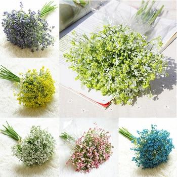 12 Unidsset Bebés Respiración Flores Artificiales Yeso Falso Diy Ramo Floral Arreglo Boda Hogar