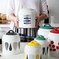 Японские керамические банки  бытовые банки для хранения пищевых продуктов  запечатанные банки  кухонные кофейные банки для сахара  контейн...