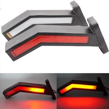 2PCS Waterproof Trailer LED Side Marker Lighting Outline Marker Truck Light Neon Stalk Side Marker Light For Trailer 12-24V