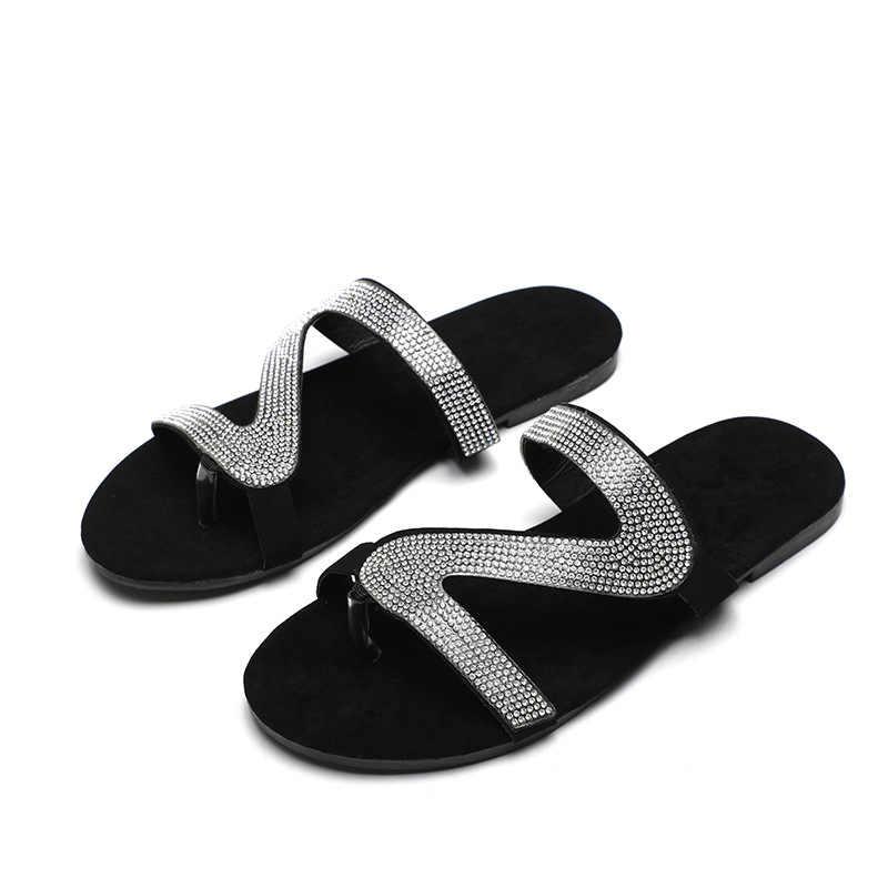 Rozmiar 41-43 kobiety letnie mieszkania kapcie sandały chaussures letnie klapki damskie letnie klapki dla kobiet sandalia feminina