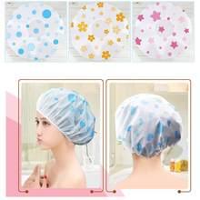 Venda touca de chuveiro à prova dwaterproof água alta qualidade cabeleireiro elástico 1pc engrossar para banho feminino chapéu produtos do banheiro