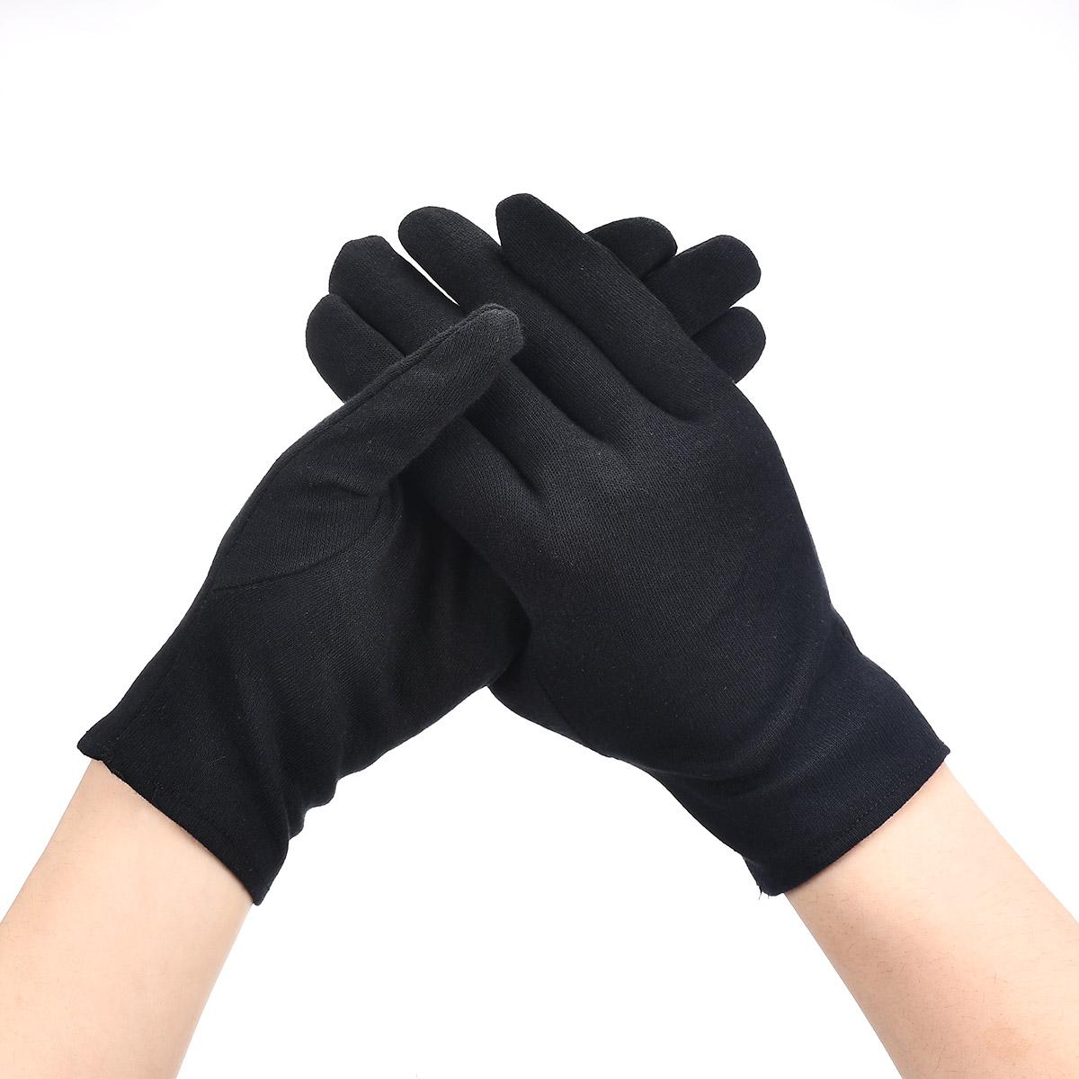 6/4/2Pairs Women Men Gloves Black White Etiquette Thin Gloves Stretch Sunscreen Gloves Dance Tight Jewelry Gloves Driving Gloves