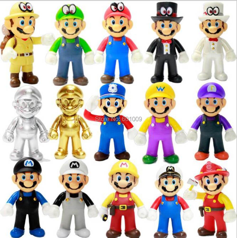 Freies Verschiffen EMS 100/Lot 15 Stile Super Mario Bros Odyssey Cappy Mario Luigi Waluigi Wario 12,5 CM PVC action Figur Modell-in Action & Spielfiguren aus Spielzeug und Hobbys bei  Gruppe 1