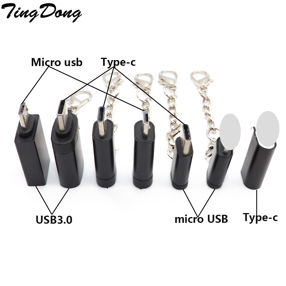 Micro USB To L 8 Pin/Type-c /usb3.0 Adapter Charging Cable Converter Adapter For IPhone & Android &Type-c Charger