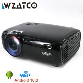 WZATCO-Proyector LED E600, compatible con Dolby 1080p, 4K, 3D, vídeo, Android, wi-fi, inteligente, portátil, HD, cine en casa