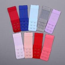 1pc 2 ganchos sutiã extensor para feminino elástico sutiã extensão cinta gancho clipe expansor ajustável fivela de cinto roupa interior 13 cores
