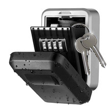 Cerradura de seguridad de almacenamiento con llave de montaje en pared,cerradura de almacenamiento de seguridad con llave de d/ígitos Caja de bloqueo de almacenamiento de llave montada en la pared de 4