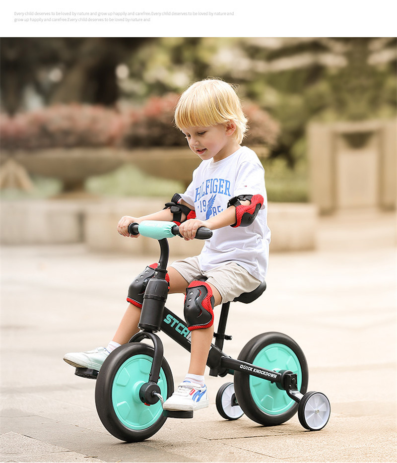 Hb9132ed46e674ecbbab8922afad54670W Multifunction 2 in 1 Kids Tricycle + Balance Bike Bicycle For 2~6 Ages Child Toddler Complete Cycling Bike Learn to Ride