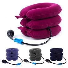 Poduszka do masażu w kształcie litery U podróż samolotem nadmuchiwane poduszki pod kark przód samochodu szyja dmuchana poduszka do wypoczynku do snu tekstylia domowe tanie tanio BODY Podróży Other Stałe THERAPY NECK quality YQ90560 0-0 5 kg Medium support velvet fabric+PVC liner+Magci sticker dark blue red gray purple