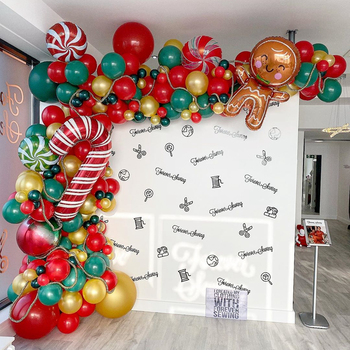 102pcs/set Merry Christmas Balloons Set Santa Claus Snowman Tree Bell Balloon for 2020 Christmas Party Decoration Xmas Supplies