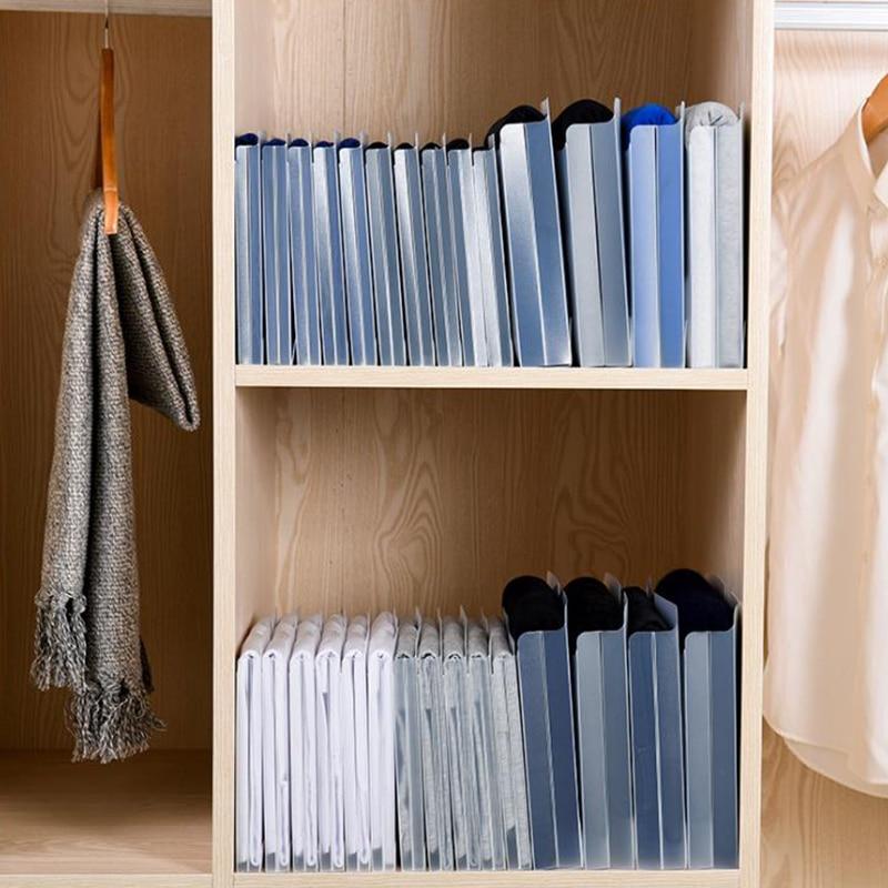 10pcs/set Dust-proof Creative Closet Quick Lazy Folding Board Multi-function Travel Space Saving Wardrobe Storage Artifact Box