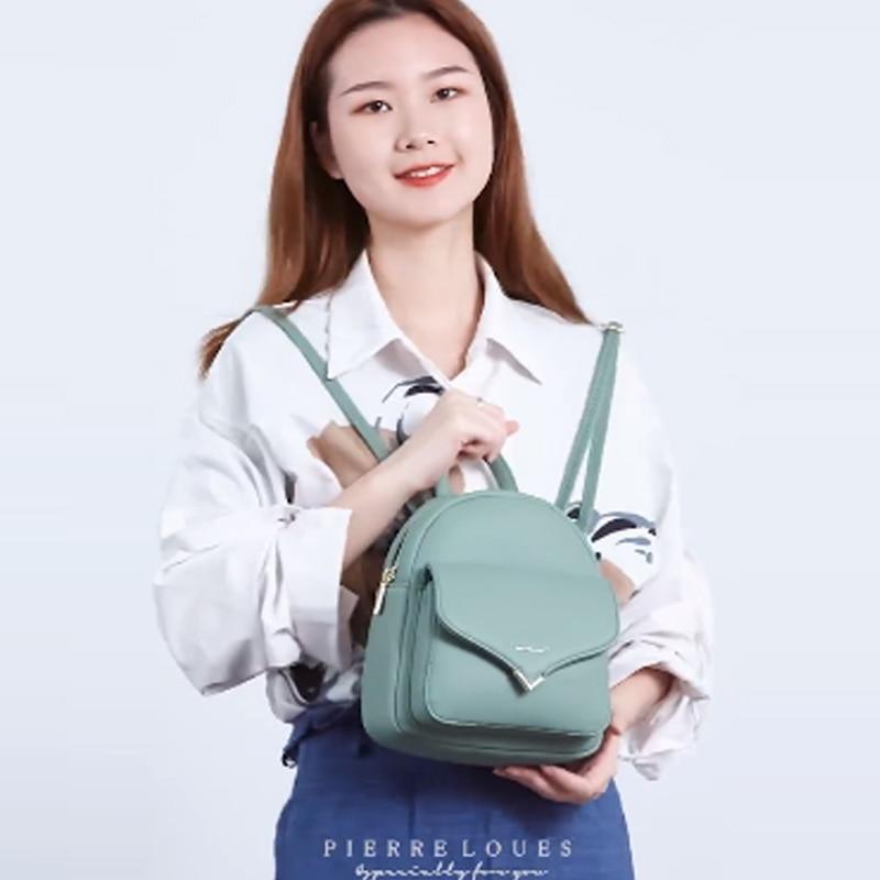 Image 2 - YIZHONG Fashion Luxury Women Backpack Leather MultiFunction Small Backpack Mini Backpack Purse Ladies Shoulder Bag MochilaBackpacks   -